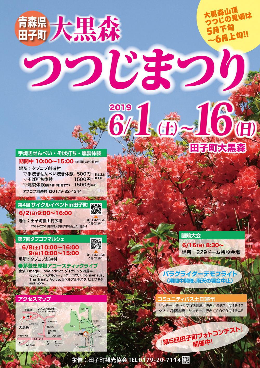 田子町 大黒森 つつじ祭り